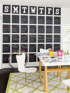 How to Make a Giant Chalkboard Calendar | Easy Crafts and Homemade Decorating & Gift Ideas | HGTV