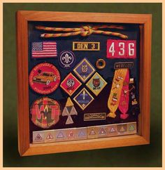 shadow box for the boys cub scout badges, love it