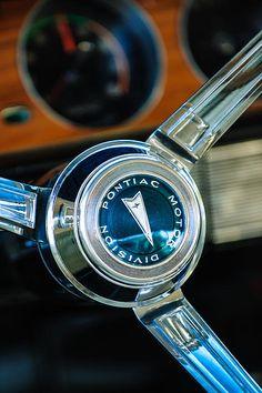 Pontiac Steering Wheel Steering Wheel Emblem - Car Photography by Jill Reger
