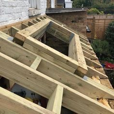 Timber roof and skylight opening complete in Twickenham. Diy Skylight, Skylight Shade, Skylight Blinds, Flat Roof Construction, Roof Design, House Design, Flat Roof Skylights, Roof Ceiling, Timber Roof