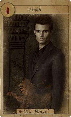 Promotional Tarot Card for Elijah Mikaelson
