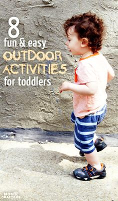 8 easy and simple outdoor activities for toddlers! Outdoors time is so important - unplug and do these fun things. Made easier and more fun wearing Stride Rite Made 2 Play shoes. Outdoor Team Building Activities, Outdoor Activities For Toddlers, Outdoor Fun For Kids, Activities For 2 Year Olds, Summer Activities For Kids, Infant Activities, Summer Kids, Learning Activities, Outdoor Learning