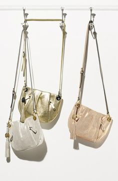 Shimmery crossbody bags // Vince Camuto