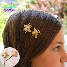 Summer Style Sweet Gold Honey Bee Fairy Bobby Pins Hair Jewelry Wedding Hair Accessories-in Hair Jewelry from Jewelry & Accessories on Aliexpress.com | Alibaba Group