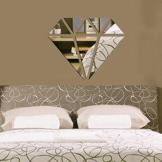 Espelho decorativo Diamante (45x36 cm)