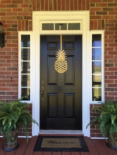 Types of Houseplant Bugs and Methods to Check Their Infestation 65 - Pineapple Front Door Wreath 20 Tall Metal Over By Housesensations - Etsy Front Door Decor, Wreaths For Front Door, Door Wreaths, Etsy Wreaths, Front Doors, Barn Doors, Feng Shui, Future House, My House