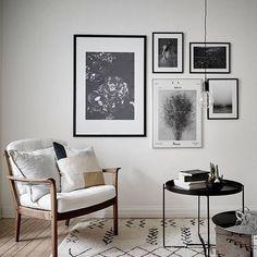 Black & white wall gallery @greydeco.se