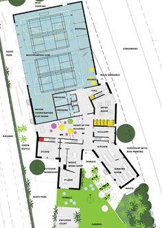 Youth Recreation & Culture Center - Dorte Mandrup + Cebra - stueplan 1_200