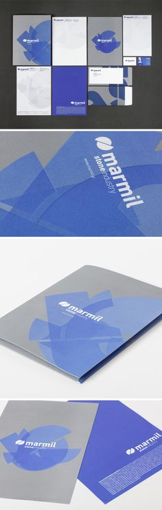 New logo and corporate identity for Marmil Company   #logo #corporate identity
