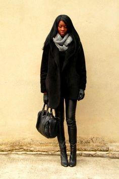 Black Bata Boots from Paris (France) #batashoes