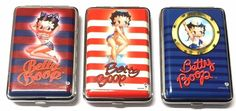 BETTY BOOP KING SIZE NAUTICAL CUTE SAILOR QUALITY CIGARETTE CASE with GIFT POUCH