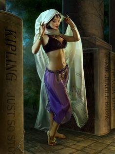 Miss Kipling - June from the 2012 Literary Pin-Up Calendar