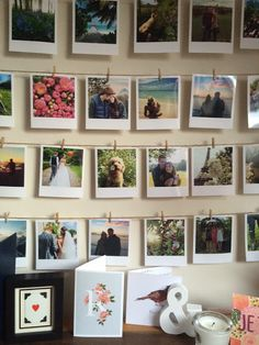 Instagram Polaroid Photo Wall : tiny paper clips