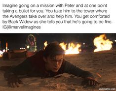 It's black widow Avengers Quotes, Avengers Imagines, Marvel Jokes, Marvel Funny, Avengers Cast, Marvel Avengers, Tom Holland Imagines, Parker Spiderman, Tom Holand