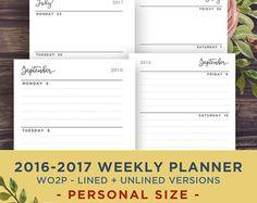 Persönliche Größe Monatskalender zum von PrintablePineapple auf Etsy
