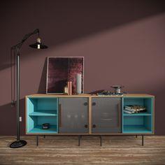 Simple Furniture, Retro Furniture, Upcycled Furniture, Furniture Design, Modern Architecture House, Interior Architecture, Home Living Room, Living Room Furniture, Interior Styling