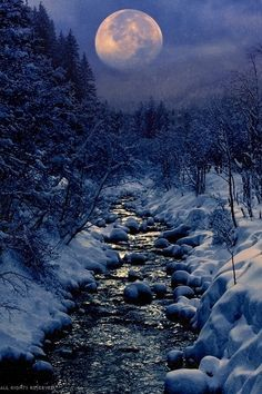heaven-ly-mind: Winter CreekbyPeter Fromon 500px