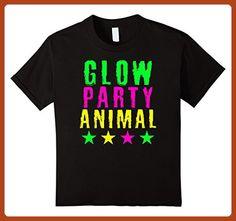 Kids Glow Party Animal Birthday T Shirt 4 Black - Birthday shirts (*Partner-Link)