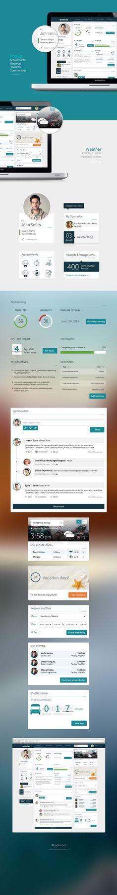 Dashboard Portal - http://www.behance.net/gallery/Dashboard-Portal/12854447