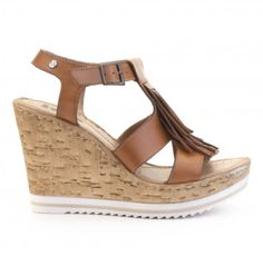 Sandalia cuña piel IXOO Wedges, Shoes, Fashion, Fur, Summer Time, Pictures, Moda, Zapatos, Shoes Outlet