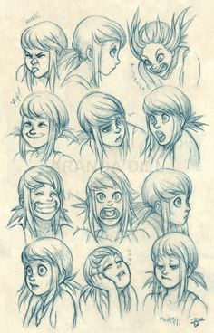Azure Expressions by ArandaDill.deviantart.com on @deviantART ✤ || CHARACTER DESIGN REFERENCES | キャラクターデザイン • Find more at https://www.facebook.com/CharacterDesignReferences if you're looking for: #lineart #art #character #design #illustration #expressions #best #animation #drawing #archive #library #reference #anatomy #traditional #sketch #development #artist #pose #settei #gestures #how #to #tutorial #comics #conceptart #modelsheet #cartoon #face #female #woman #girl || ✤