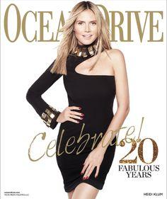 Heidi Klum for Ocean Drive January 2013 in CD Greene