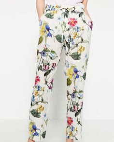 $50 Image 3 of FLORAL PRINT TROUSERS from Zara