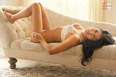Michelle on Chaise Longue (The Kent Gilley ) Tags: sexy canon pretty availablelight naturallight boudoir bedandbreakfast victoriassecret she...