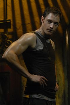 """Karl """"Helo"""" Agathon. BSG. Lawd have MERCY.....aside from Starbuck, Helo is my favorite."""