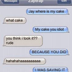 Jay, I told you not to mess with Cole when it comes to cake!