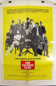 THE SICILIAN CLAN - ALAIN DELON / JEAN GABIN - ORIGINAL USA 1SHT MOVIE POSTER