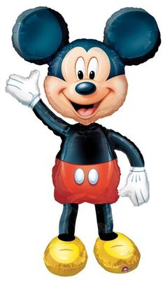Decorate your party venue with this life size gliding 52 Mickey Mouse Airwalker Balloon. Its going to be a hit as he walks around the party guests. Perfect for birthdays, Mickey Mouse themed parties, baby showers and more! Disney Mickey Mouse, Mickey Mouse Clubhouse, Minnie Mouse, Walt Disney, Mickey Mouse Party Supplies, Mickey Mouse Parties, Mickey Party, Mickey Balloons, Mylar Balloons