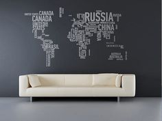 Cartoon black cat cute DIY Vinyl Wall Stickers For Kids Rooms Home Decor Art Decals Wallpaper decoration adesivo de parede Wall Maps, World Map Wall, Wall Stickers, Wall Decals, Word Map, A Different World, Vinyl Lettering, Cool Walls, Cool Stuff