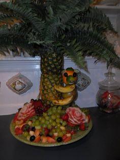 mango monkey fruit platter