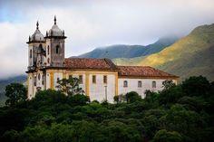 igreja de Santa Ifigênia, de 1720, em Ouro Preto - MG