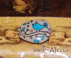 MIni painted stone by Unicatella Mini kamienie ręcznie malowane
