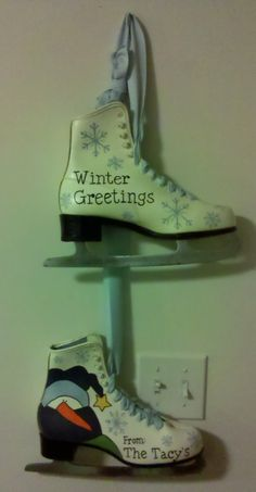 painted ice skate | life with nature girl: Secret Santa