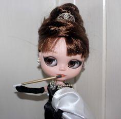 Art Blythe Doll Custom Holly Go Lightly Audrey Hepburn Artist Doll | eBay