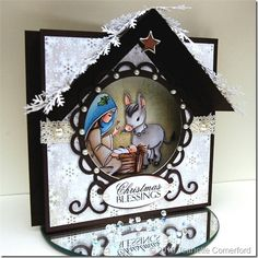 If you are unfamiliar with the idea of an aperture card, then you are in for a treat. This Sweet Nativity Aperture Christmas Card is one of the most impressive Christmas card ideas. An aperture card creates a mount inside the handmade Christmas card. Christmas Blessings, Diy Christmas Cards, Christmas Candles, Christmas Signs, Handmade Christmas, Christmas Crafts, Xmas, Diy Nativity, Christmas Nativity