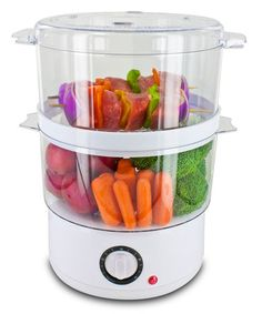 Smart Start Steamer Set by Smart Planet Constructed from durable materials and featuring a rice tray and two baskets for veggies, it's perfect for cooking up scrumptious sides without the hassle or mess. Kitchen Items, Kitchen Tools, Kitchen Gadgets, Kitchen Dining, Kitchen Stuff, Kitchen Products, Kitchen Supplies, Kitchen Must Haves, Electronic Toys