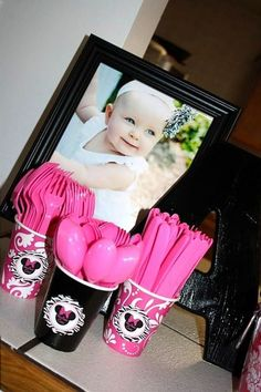 """photos: minnie mouse 1st birthday party in hot pink, zebra, and a touch of damask← Back to Party Details Page  Like this party? """"Like"""" me on Facebook! http://www.facebook.com/pages/Lets-Have-a-Ball-Parties-and-Events/114742045283164   We'd love you to leave a comment, but you need to be logged in. JoinLogin"""