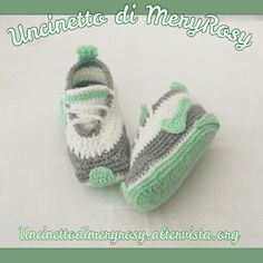 Nike shoes crocheted