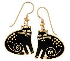 Laurel Burch Goldtone Vintage Ahktar Square Enamel Stud Earrings ...