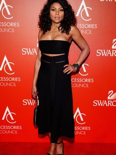 Taraji P. Henson's 18th Annual Accessories Council Awards Alexander Wang Cut Out Bandeau Top and Culotte Pants