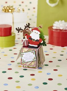 We love this Santa exploding box card from Papercraft Inspirations issue 146!