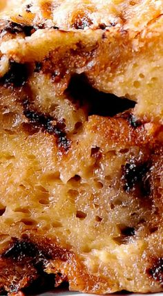 Chocolate Chip Panettone Bread Puding with Bourbon-Butter Sauce