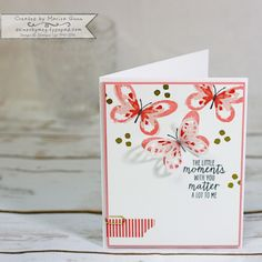 Set of friendship cards featuring the Watercolor Wings Stamp Set from Stampin' Up by Marisa Gunn for TGIFC#96 Butterflies, Lovely