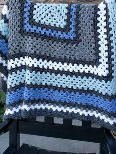 A Lively Hope: Giant Granny Square Crochet Blanket