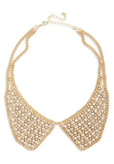Unexpected Guest List Collar Necklace