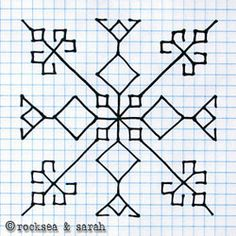 This lesson will teach you how to work kasuti on a plain fabric with a traced design. Hand Embroidery Tutorial, Hand Embroidery Designs, Embroidery Patterns, Cross Stitch Borders, Cross Stitching, Cross Stitch Patterns, Graph Paper Drawings, Graph Paper Art, Kasuti Embroidery